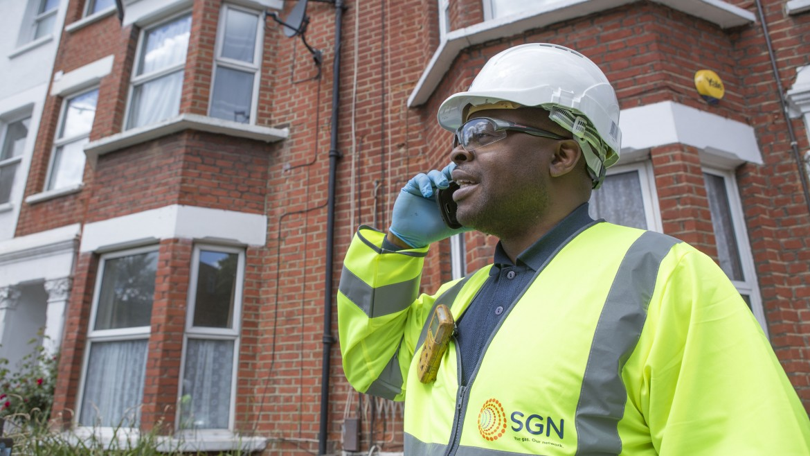 SGN gas engineer working on a street